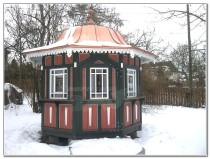 Pavillon Exklusiv, Pavillon Holz,  Achteck-Pavillon
